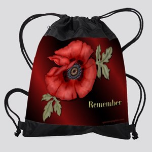 RememberPoppy.png Drawstring Bag